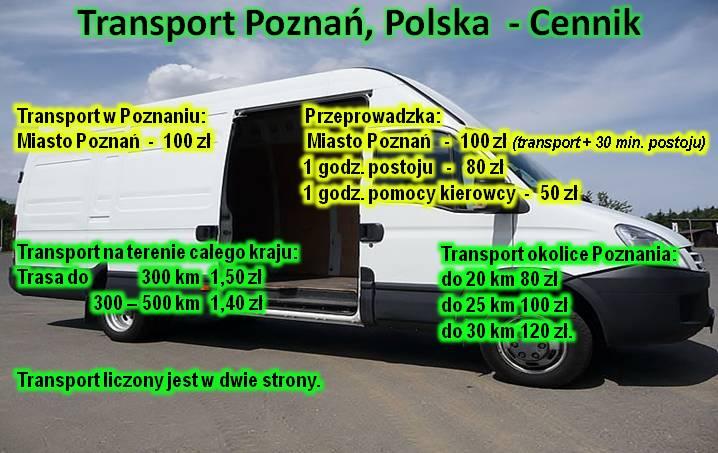 Transport Poznań Polska Cennik